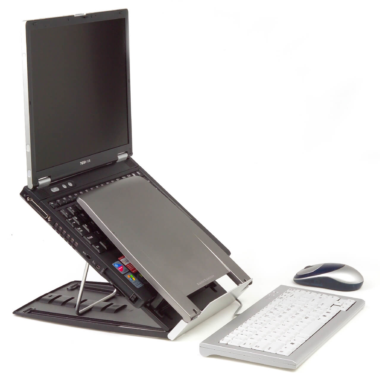 Ergo-Q 330 laptophouder inc. Documenthouder