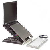 Ergo-Q 330 laptophouder inc. Documenthouder