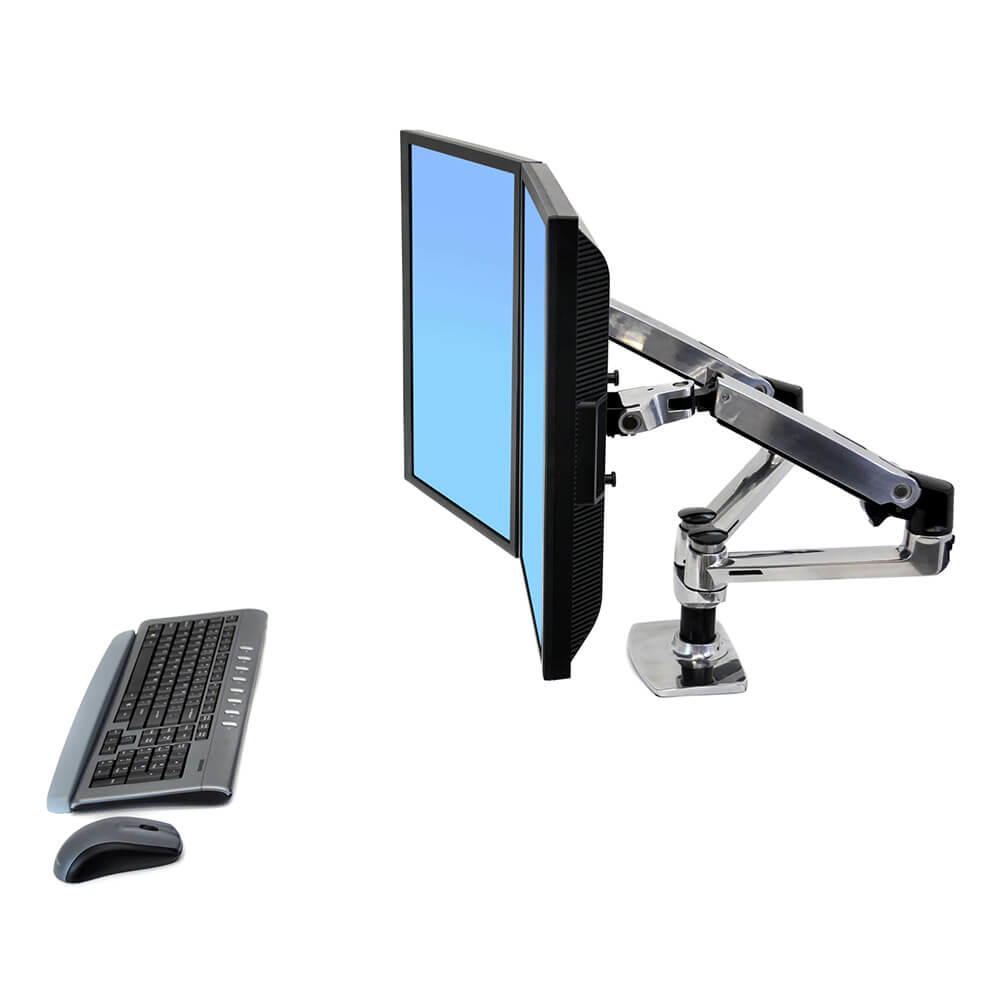 Dual LX side by side flatscreenarm