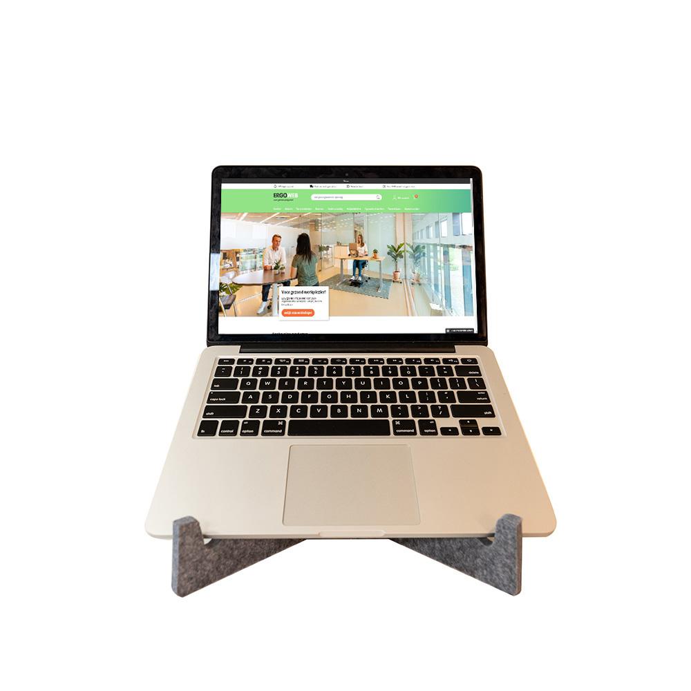 OPnieuw! Laptopstandaard van gerecycled materiaal