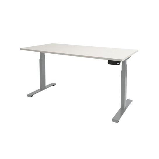 Ergowork elektrisch zit sta bureau Ultimate met zilver onderstel