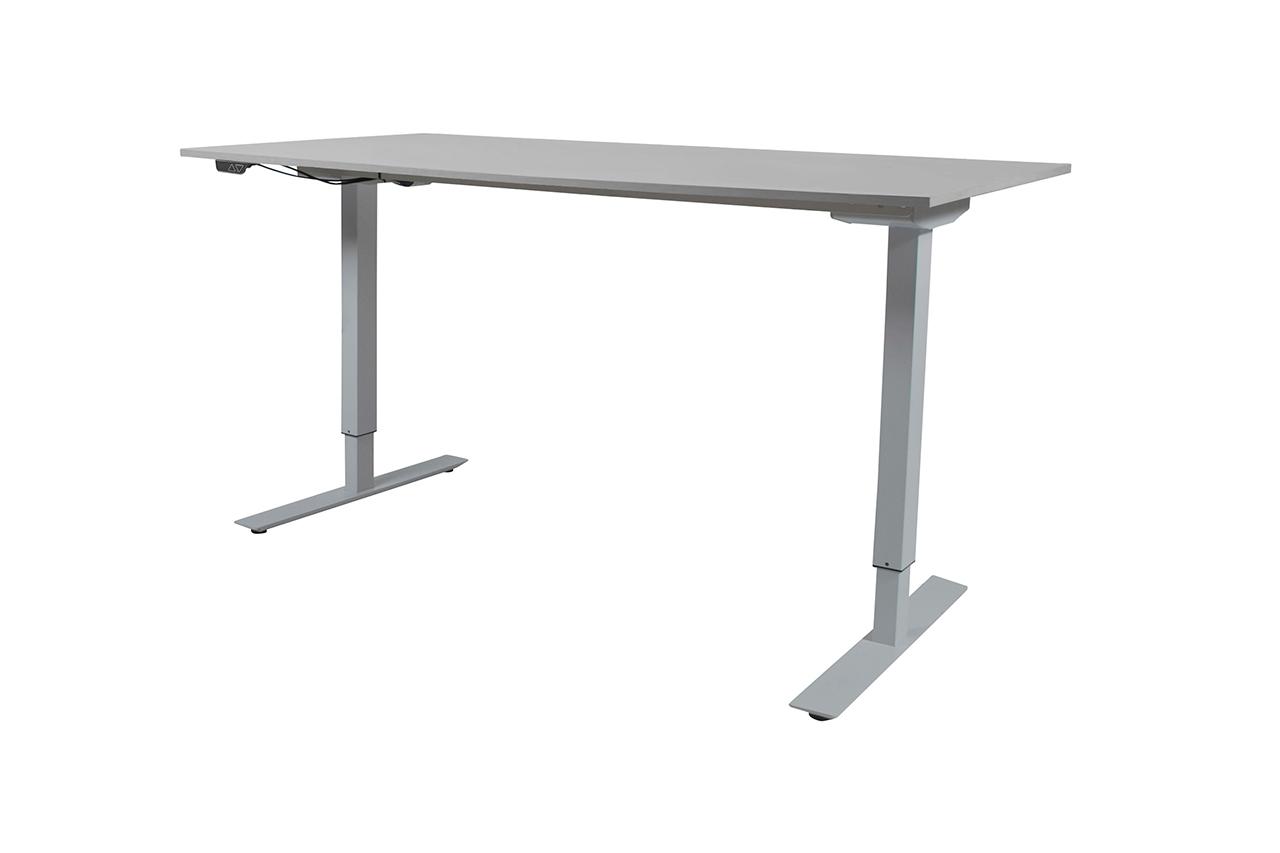 Ergowork elektrisch zit sta bureau Premium met zilver onderstel