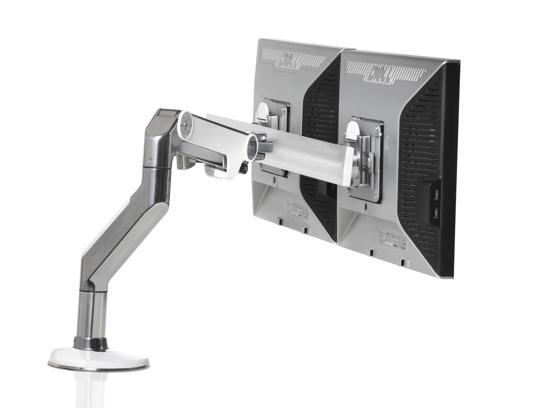 OPNIEUW! Humanscale TFT arm M8 crossbar – Wit– Bladklem