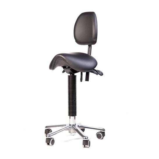 Flytte ergonomische zadelkruk met rug – small